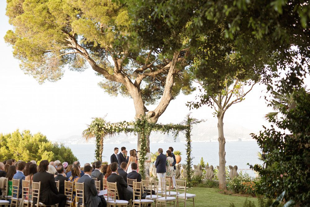 Jewish wedding ceremony on Capri island Design and Planning by Capri Moments
