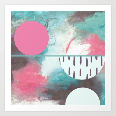 Universal Cerise Art Print by Shannon O'Shea on Society 6