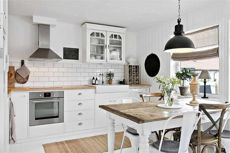 Una Casa Con Encanto Vintage Paredes De Cocina Cocinas Blancas