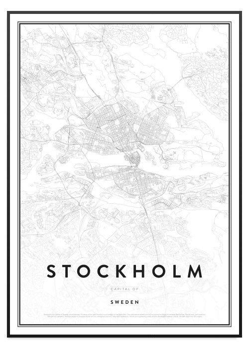 poster karta stockholm Poster Store Stockholm karta tavla | Tavlor | Pinterest poster karta stockholm