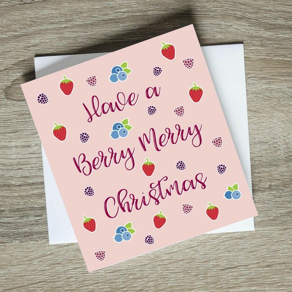 Have A Berry Merry Christmas Card #etsy #funnyholidaycard ...