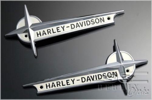 Gas Tank Emblem W O Strip For 1961 1962 Harley Probably The Best Badges In My Opinion Harley Harley Davidson Softail