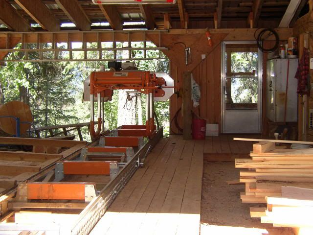 Sawmill shed and other buildings pictures | Portable