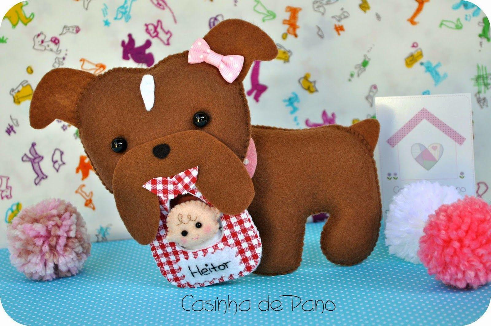 Casinha de Pano: Bulldog com bebê