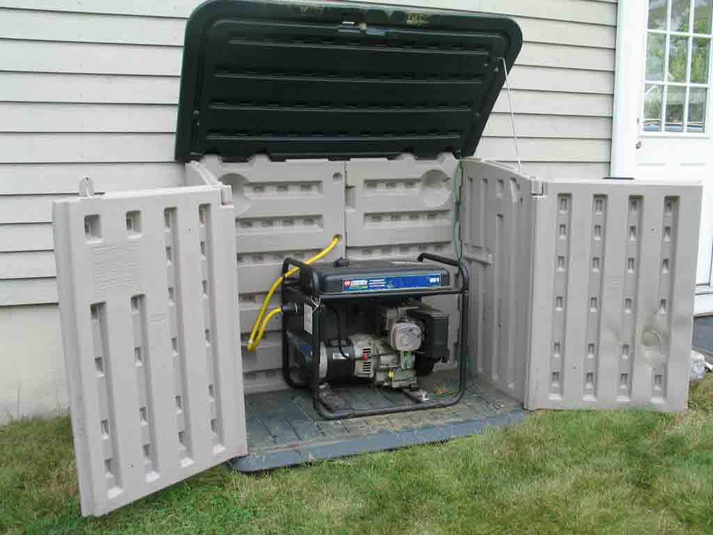Small sheds for generators generator enclosure http for Small portable shed
