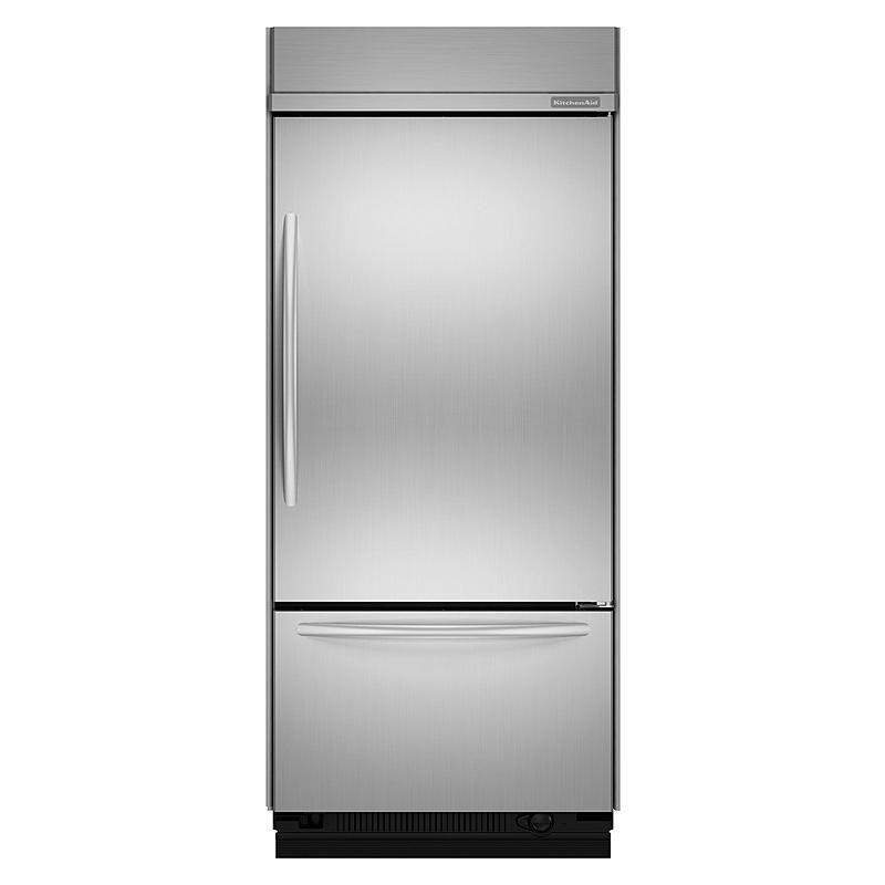 Kitchenaid 205 cu ft builtin bottom freezer