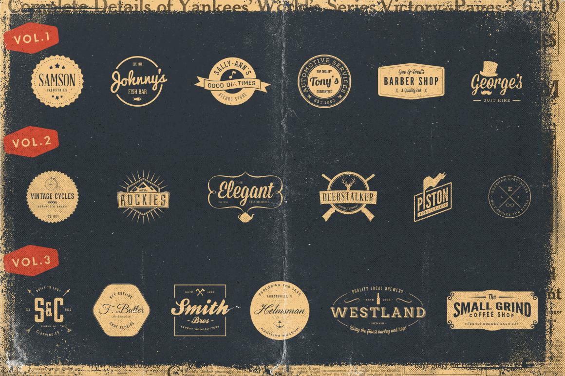 Shirt design vintage - 30 Vintage Logos Bundle By Vintage Design Co On Creative Market