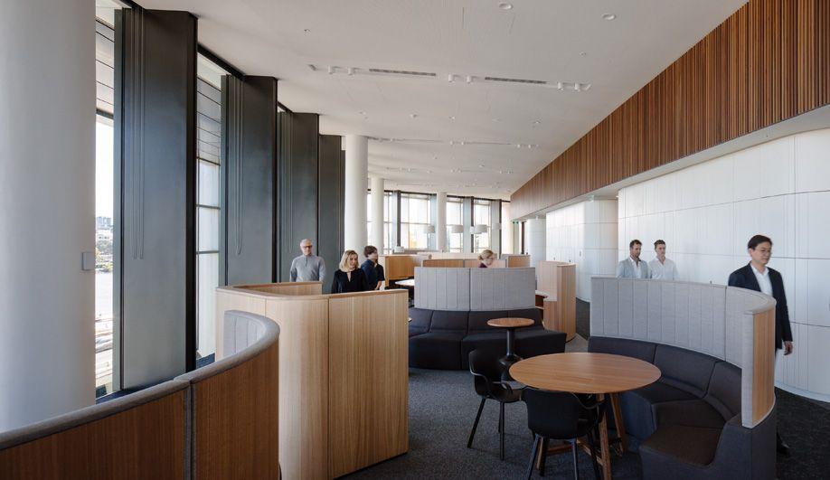 Woods Bagot Designs A Village Inspired Brisbane Office At 1 William Street Williams Street Design Public Architecture