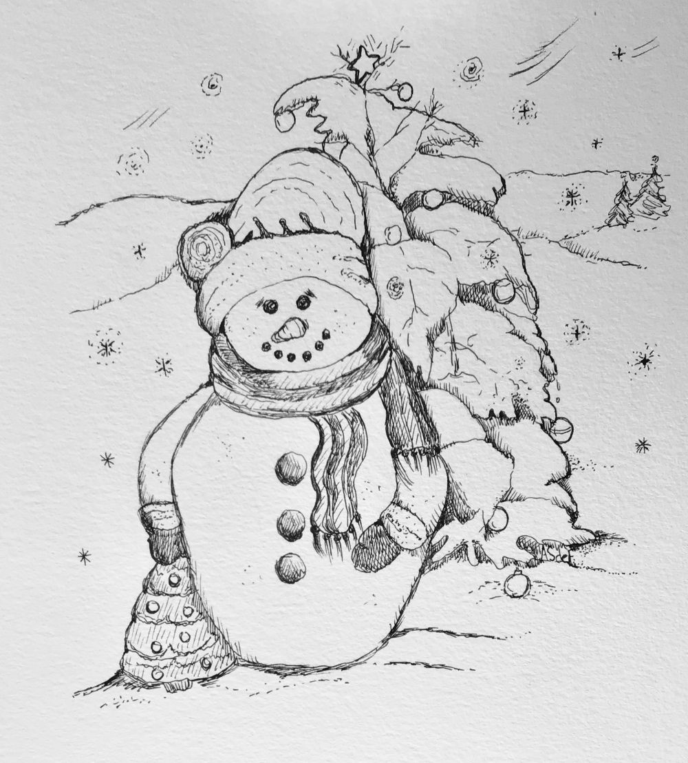 Printable Coloring Sheet Snowman Printable coloring