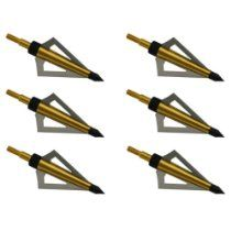 6pcs Broadheads 100gr 3 blade For Hunting Compound Recurve Bow Crossbow Tips SW