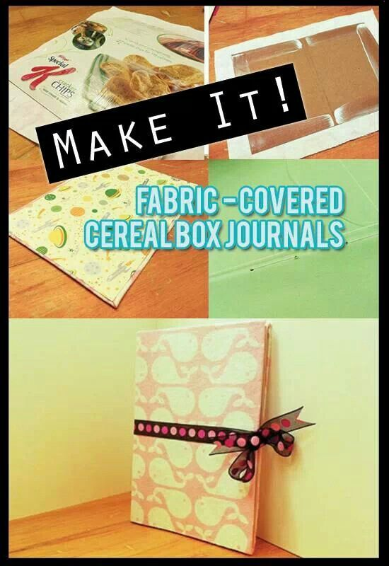 Fabric covered cereal box journals httpcraftideasweekly fabric covered cereal box journals httpcraftideasweeklycreative ccuart