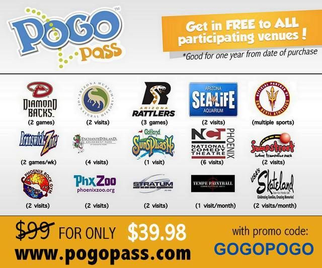 If your kids are already getting bored this summer, I can help you out with the Pogo Pass! Sunsplash admission just about covers the cost of the pass, and then you get FREE admission to the remaining places for 12 months! Such a good deal!  Just go to www.pogopass.com and use the code: GOGOPOGO
