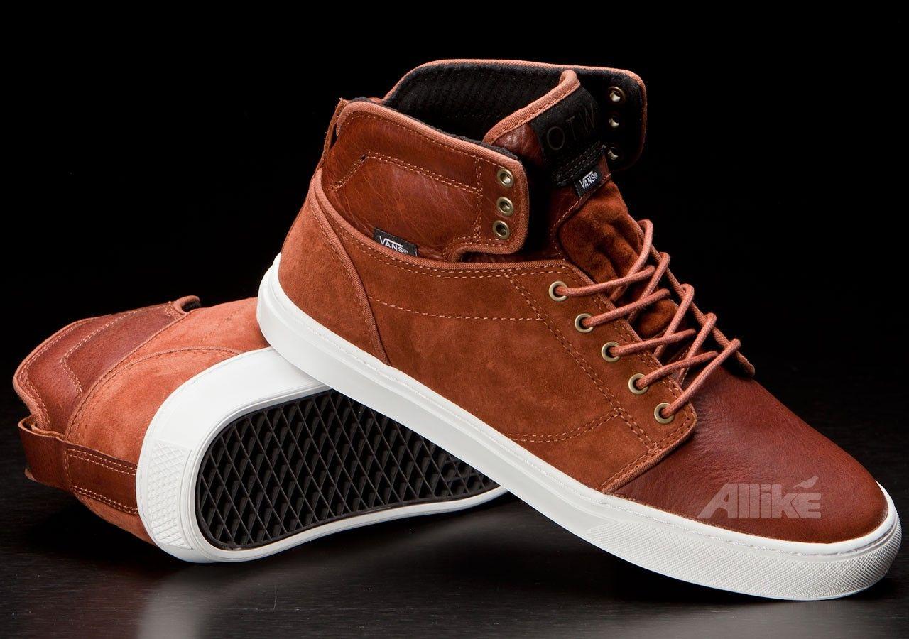 Vans Alomar Mocha Bisque Leather | Vans, High top sneakers