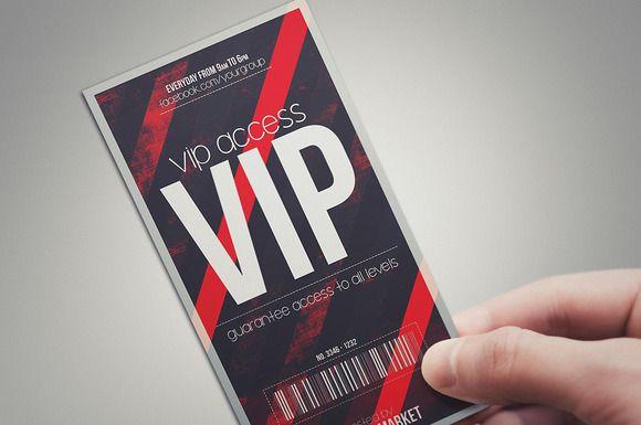 Devil red vip pass – Vip Ticket Template
