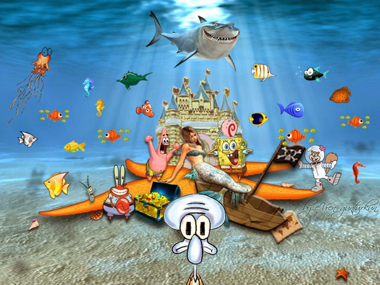 Spongebob Wallpaper Gambar Wallpaper Spongebob 3d Hd Wallpapers Di 2020 Seni