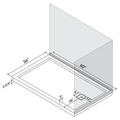 Lesscare 60 X 36 Shower Base Shower Base Shower Wall Kits