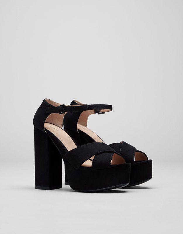 73a10456 Sandalia tacón noche - Ver todo - Zapatos - Mujer - PULL&BEAR España ...
