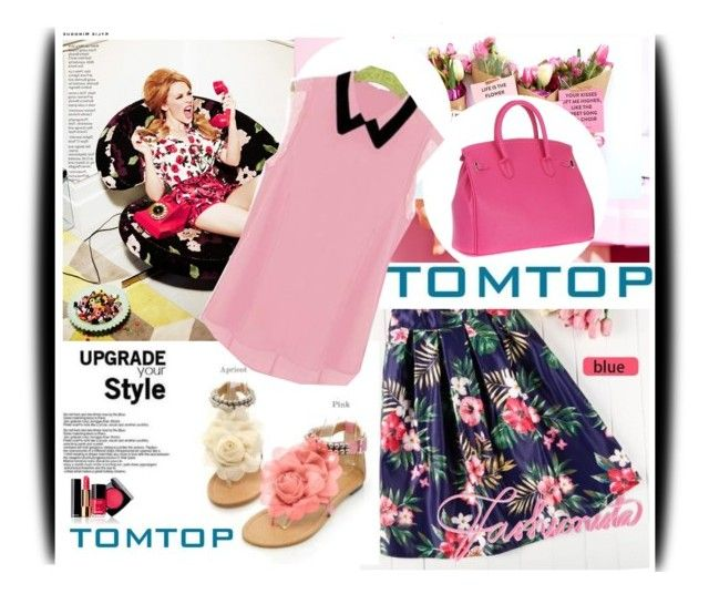"""TOMTOP+ 27"" by amerlinakasumovic ❤ liked on Polyvore featuring Kylie Minogue, Chanel, vintage, Online, sale, tomtop and tomtopstyle"