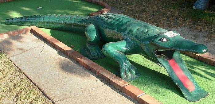 Mass Manufactured Mini Golf Obstacles The Play Through Alligator Mini Golf Crazy Golf Golf