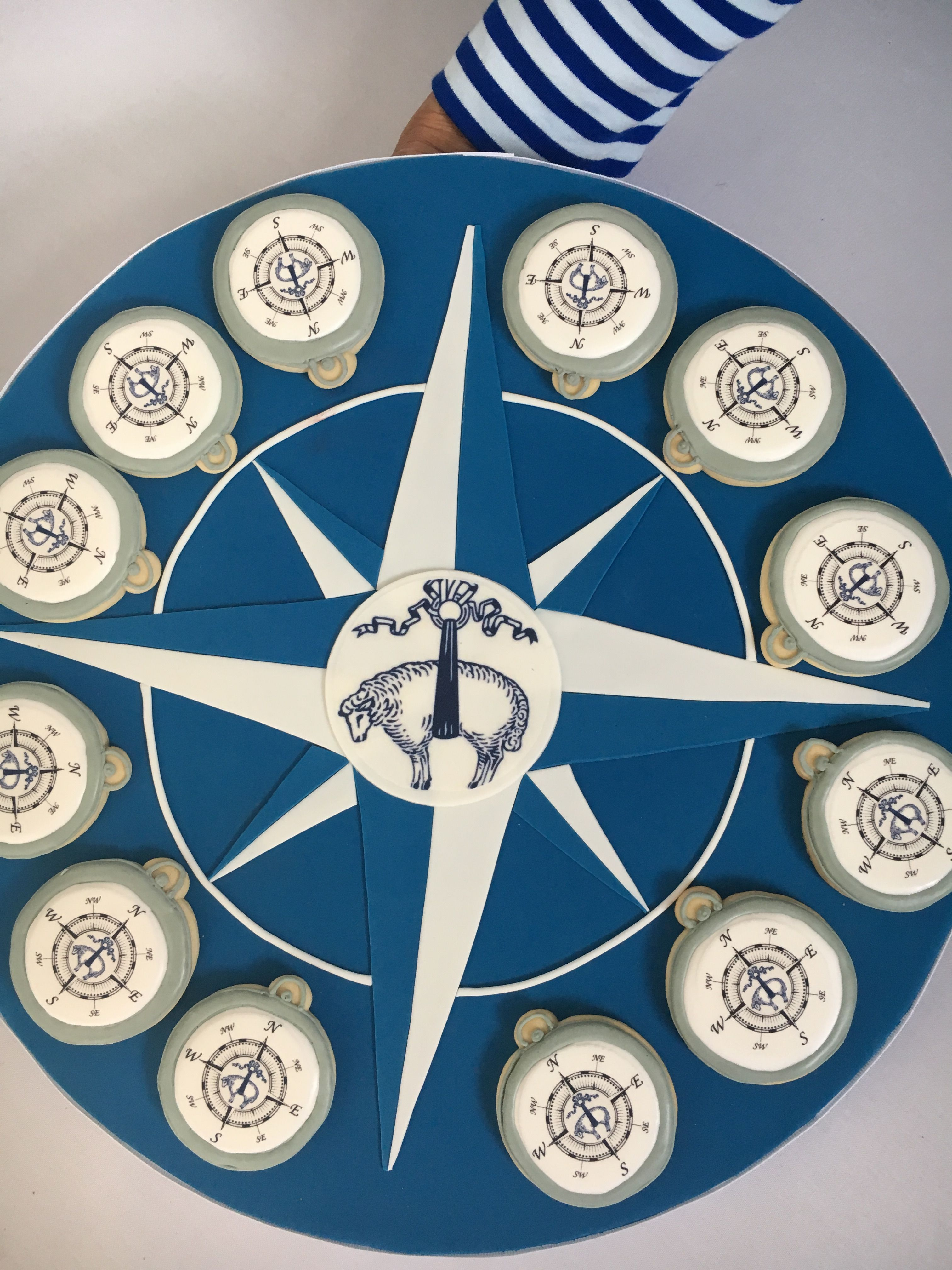 Compass Cookies On Our Custom Fondant Trays From The Camp Brooks