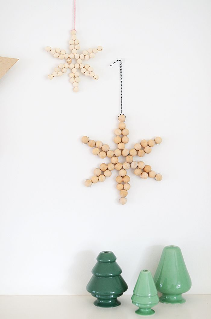Diy Wooden Bead Star Nalle S House Diy Christmas Ornaments