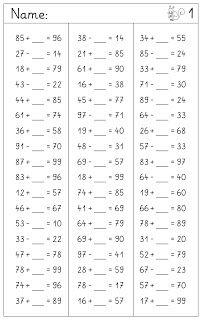 Lernstübchen: Ergänzen und Vermindern gemischt | matematica-1-2 ...