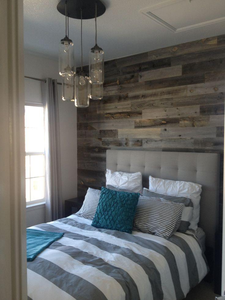 Reclaimed Weathered Wood Wall In Bedroomdiy