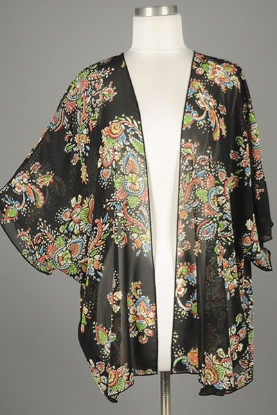 New Style *** Sheer Romance Short Sleeve Chiffon Cardigan with ...