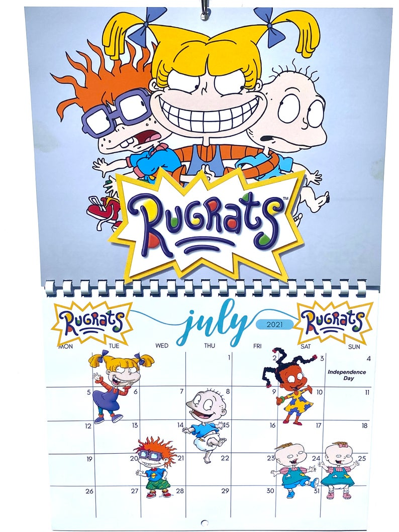 90 S Cartoons 2021 Calendar Etsy 90s Cartoons 2021 Calendar Cool Calendars