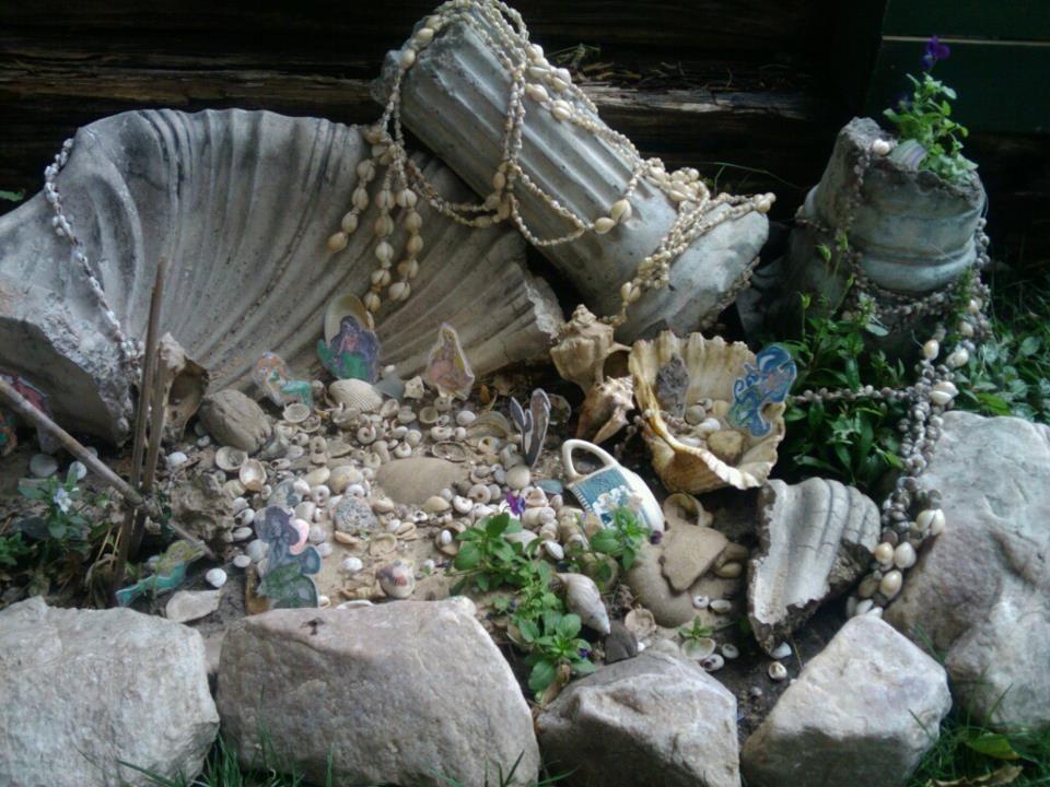 mermaid garden fairies pinterest mermaid gardens