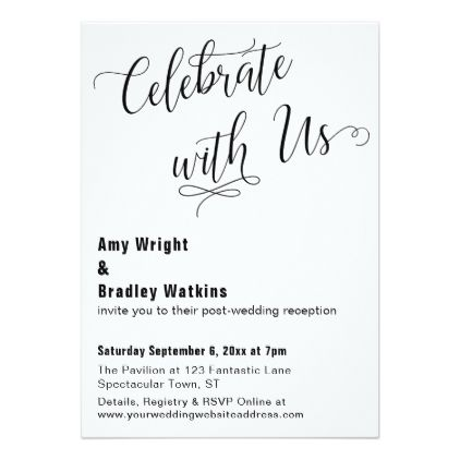 Celebrate with Us - event card template