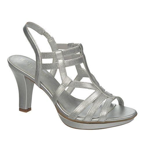 Naturalizer Women's Darcy Dress Sandal, Silver, 6.5 W US