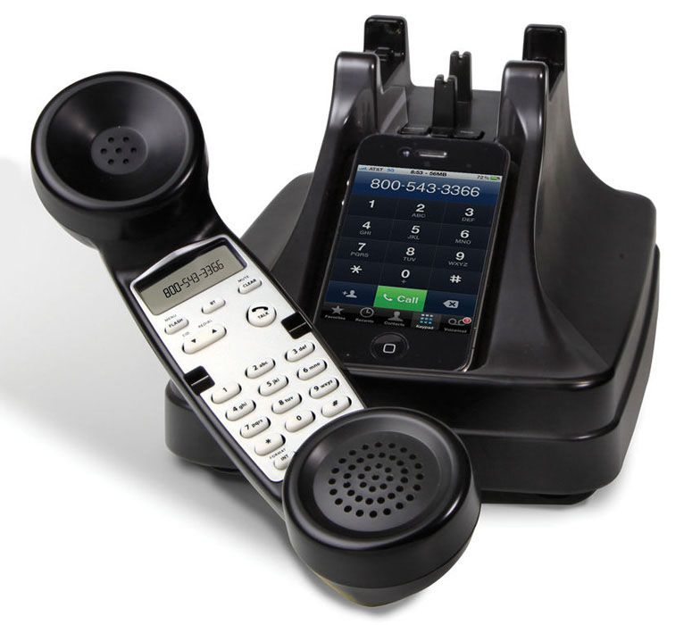 iPhone Cordless Handset I was just saying how much I hate using cell phones…