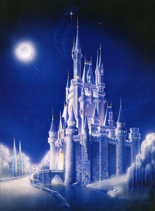 Cinderella Castle Crossing Guy Vasilovich Disney LE 50 ...