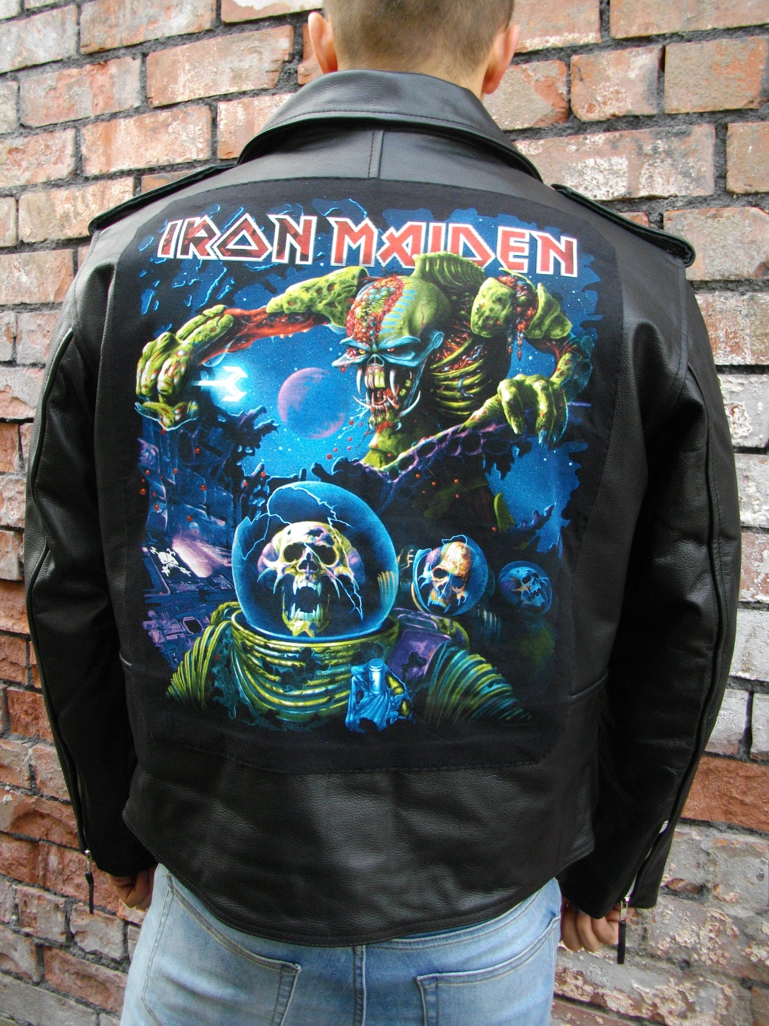 Latest Custom Creation From Our Amazing Metalworks Team Awesome Iron Maiden Final Frontier Heavy Meta Heavy Metal Clothing Metal Clothing Leather Jacket [ 3332 x 2499 Pixel ]