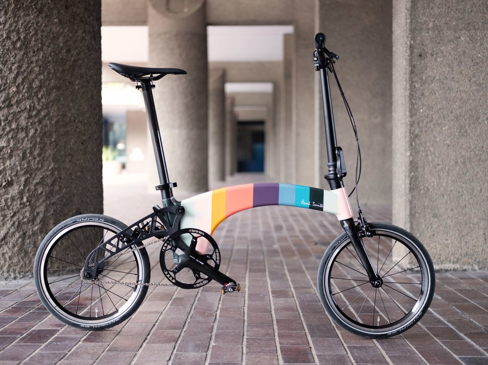 Paul Smith Limited Edition Single Speed Hummingbird Bike The Lightest Folding Bike In Th Folding Bike Folding Bike Design Cool Bicycles