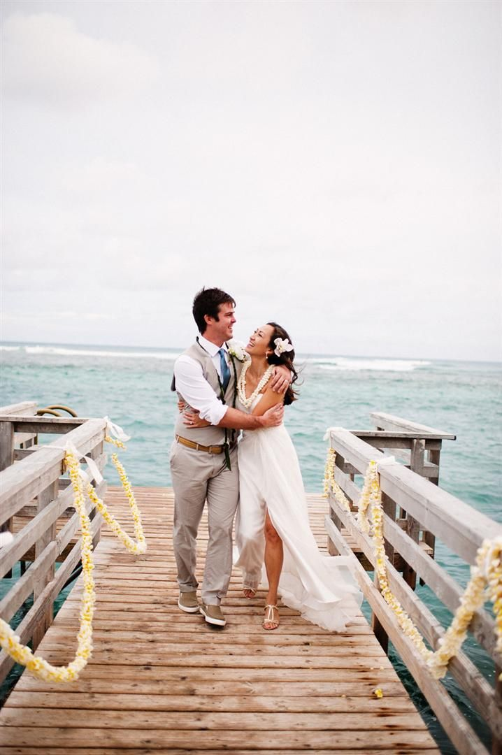 It was an oceanfront wedding for Dy & Jack!