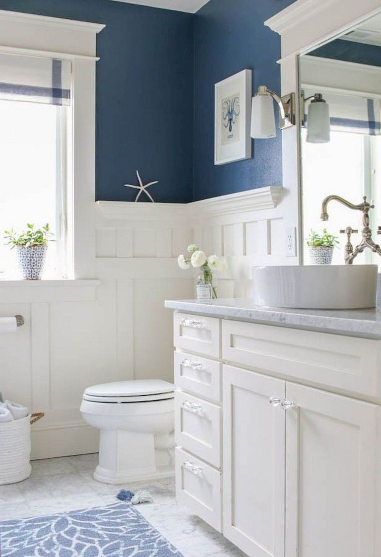 59 Gorgeous Coastal Beach Bathroom Decoration Ideas Nautical