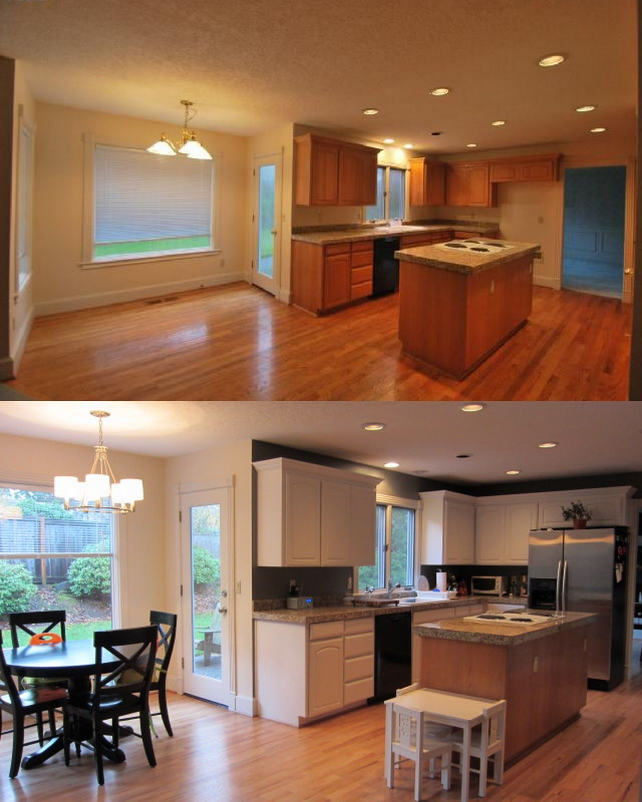 Redone Kitchen Cabinets: The Oregon Shirzads: Painting White Kitchen Cabinets