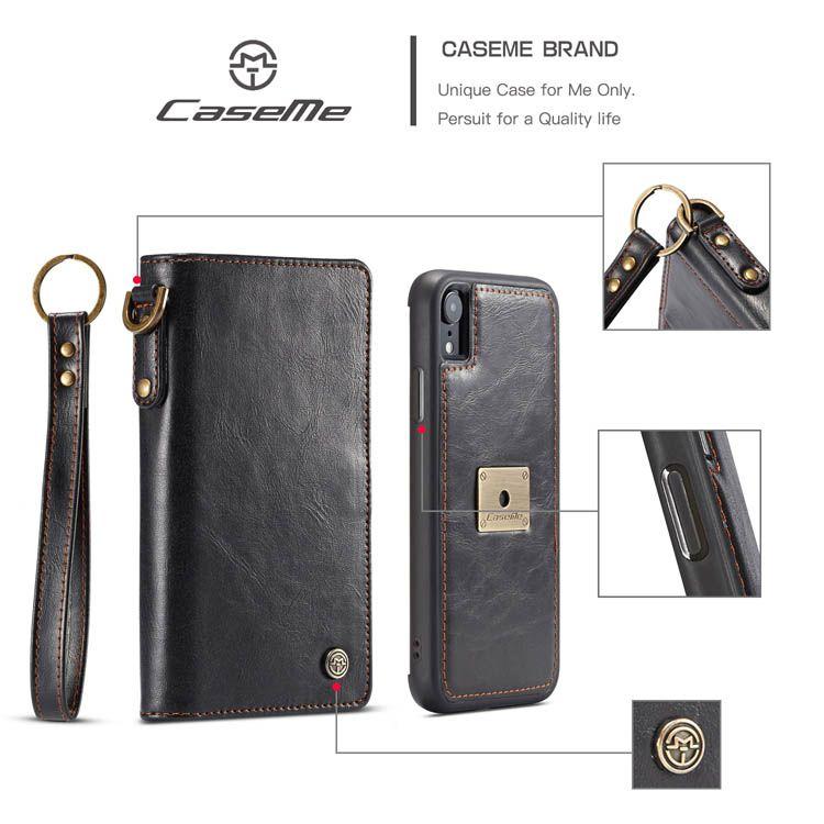 Caseme iphone xr wallet detachable 2 in 1 case