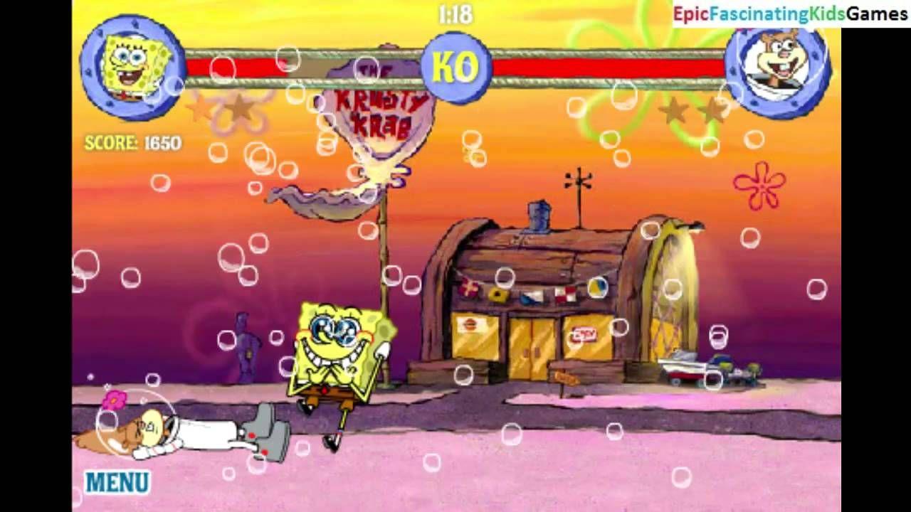 sandy cheeks vs spongebob squarepants in a spongebob squarepants