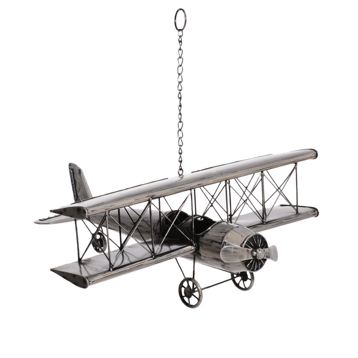 Avion En Metal Deco