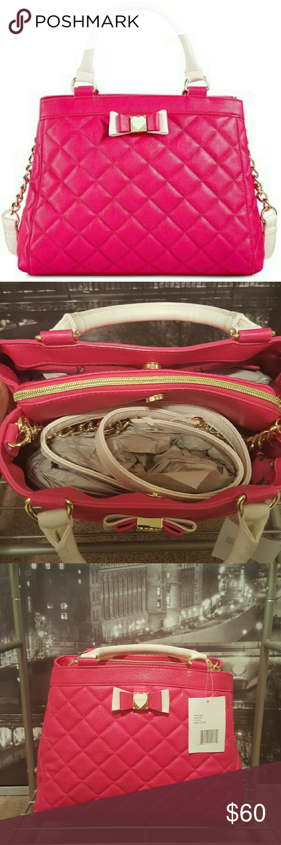 BRAND NEW Betsey Johnson quilted satchel Never been worn quilted satchel from the Great Betsy Johnson. The color is bold and fun!!! Great price in time for Xmas!!! Betsey Johnson Bags Satchels