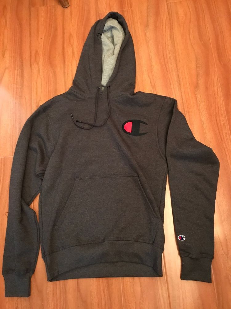 46f21182a1e79 champion hoodie reverse weave mens size small Gray Red  fashion  clothing   shoes  accessories  mensclothing  activewear  ad (ebay link)