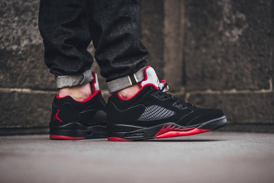 7aa4def4b27 Nike Air Jordan 5 Low Alternate Black Red | Jordans | Nike air ...