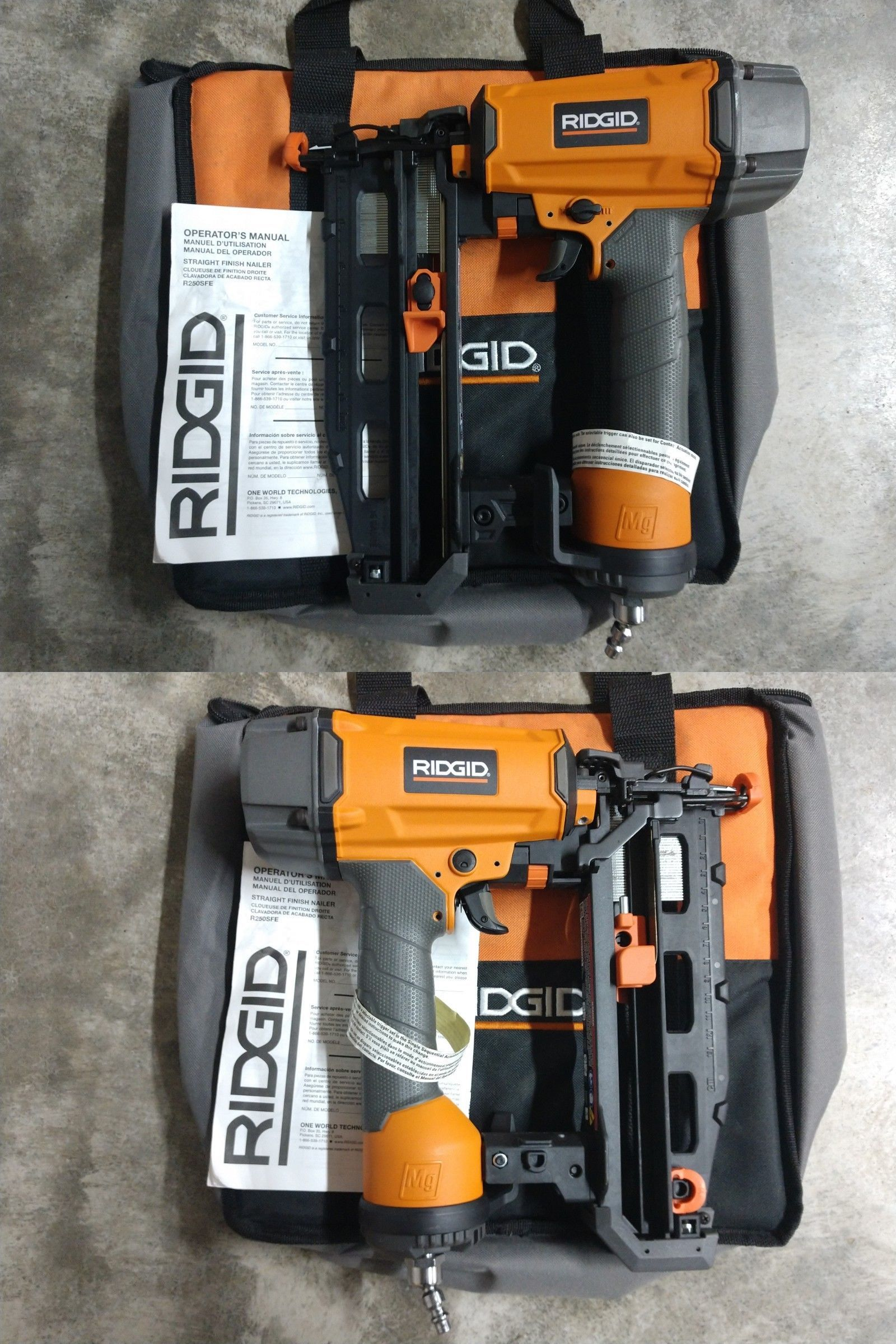 Nail And Staple Guns 122828 New Ridgid 16 Gauge Finish Nailer Model R250sfe Buy It Now Only 119 99 On Ebay Staple Ri Finish Nailer Nailer Staple Guns