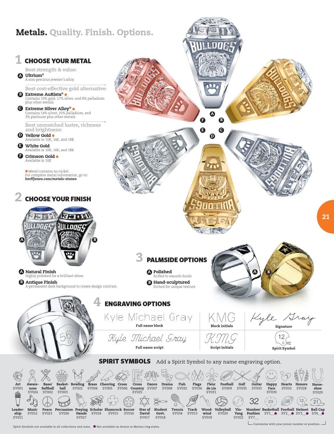 Herff Jones Class Ring Catalog 2015 by Herff Jones | High School ...