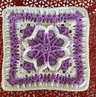 fall blossom square Free Crochet Granny Afghan Square Pattern