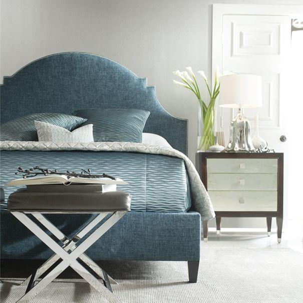 Lindsey Upholstered Bed In Blue
