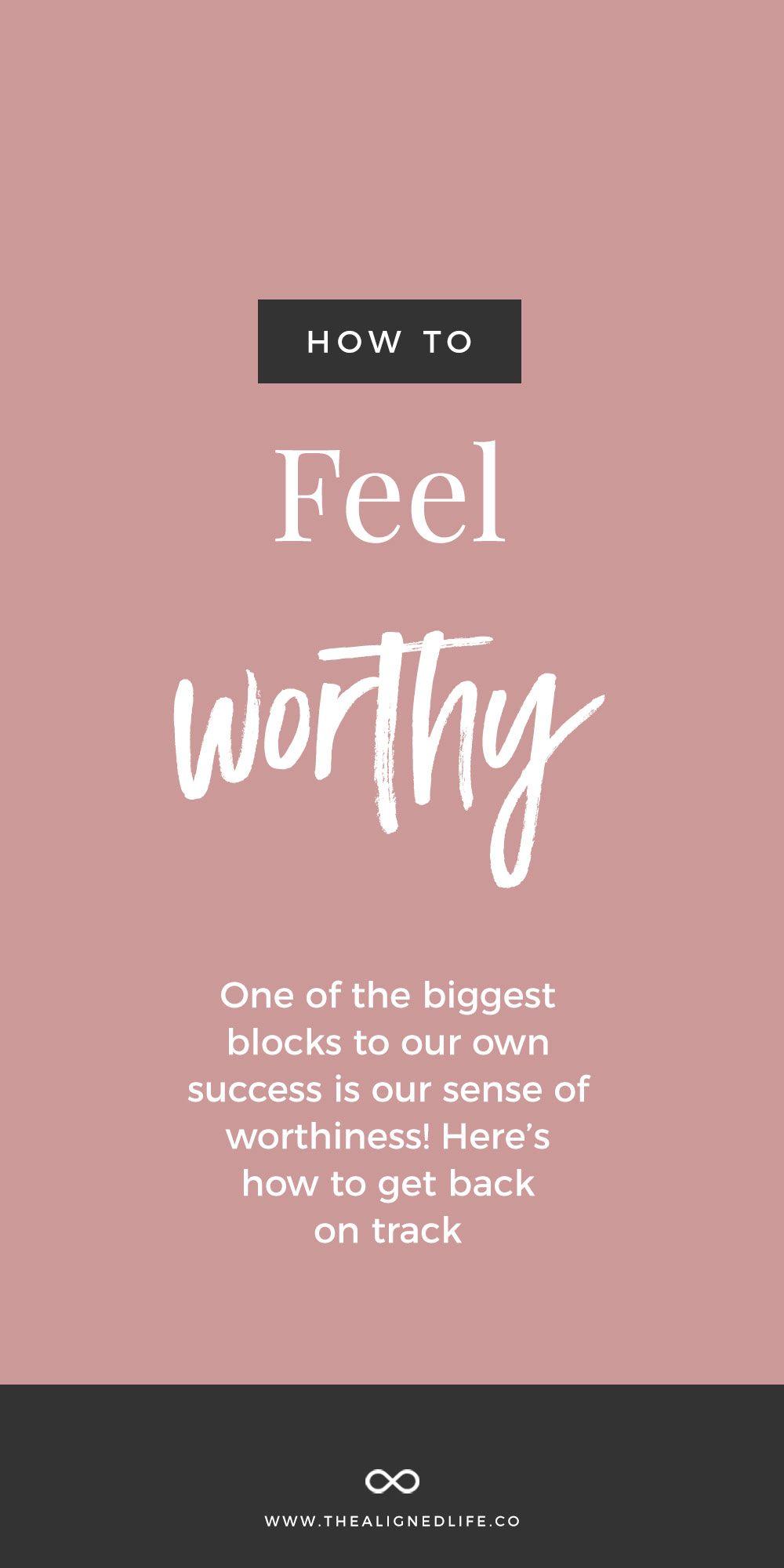 How To Feel Worthy Feelings, Secret law of attraction